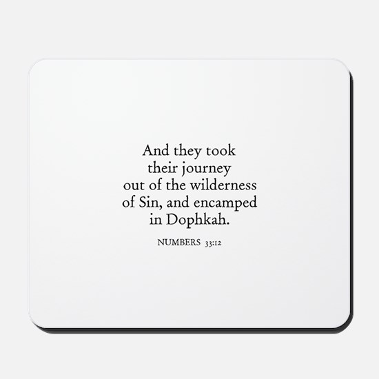 NUMBERS  33:12 Mousepad