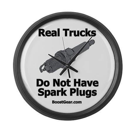Real Trucks - Spark Plugs Large Wall Clock