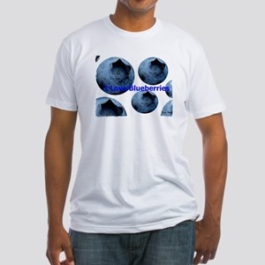 I Love Blueberries Fitted T-Shirt