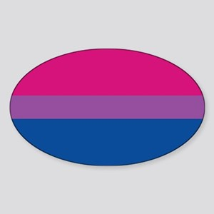 Bisexual Pride Flag Oval Sticker