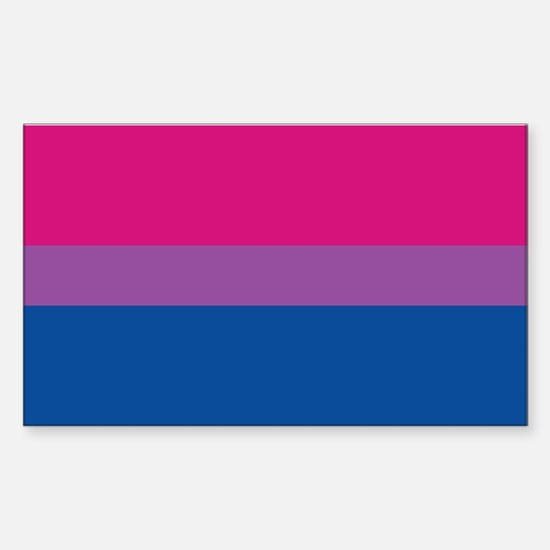 Bisexual Pride Flag Rectangle Decal