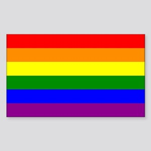 Gay Pride Flag Rectangle Sticker