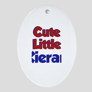 Cute Little Kieran Oval Ornament