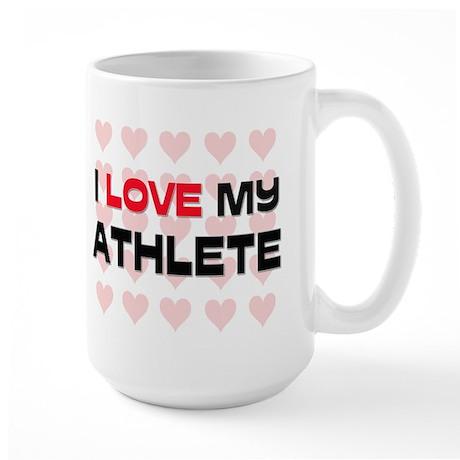 I Love My Athlete Large Mug