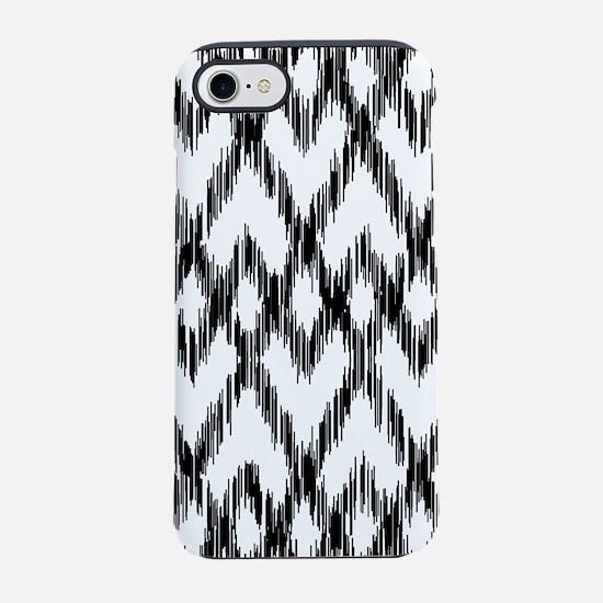 Ikat Pattern Black/White iPhone 7 Tough Case