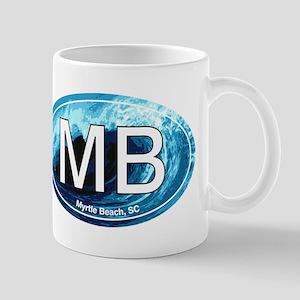 MB Myrtle Beach Ocean Wave Oval Mug