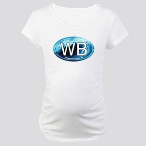 WB Wrightsville Beach Wave Oval Maternity T-Shirt