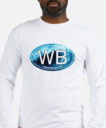 WB Wrightsville Beach Wave Oval Long Sleeve T-Shir