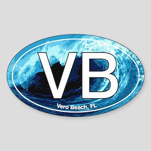 VB Vero Beach Wave Oval Oval Sticker