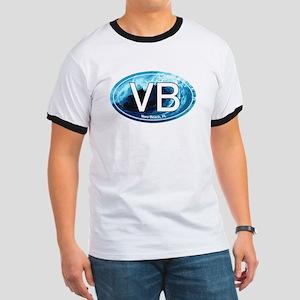 VB Vero Beach Wave Oval Ringer T
