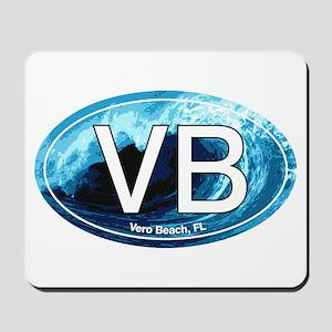 VB Vero Beach Wave Oval Mousepad