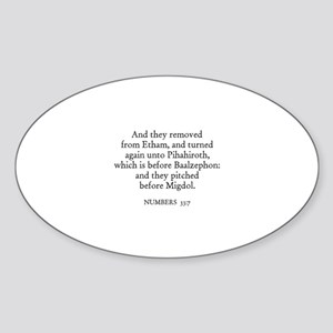 NUMBERS 33:7 Oval Sticker
