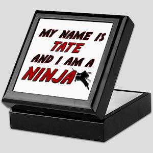 my name is tate and i am a ninja Keepsake Box