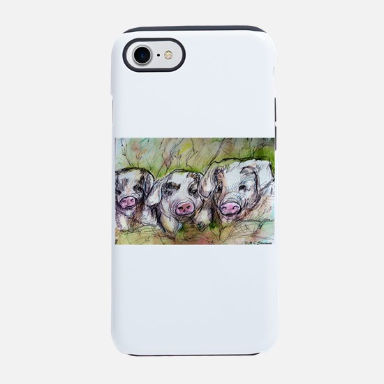Piglets, Animal art! iPhone 7 Tough Case