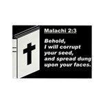 Malachi 2:3 Rectangle Magnet (10 pack)