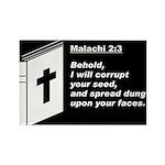 Malachi 2:3 Rectangle Magnet
