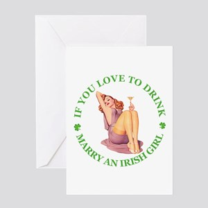 MARRY AN IRISH GIRL Greeting Card