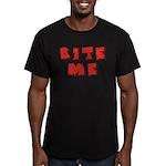 Bite Me! design Men's Fitted T-Shirt (dark)