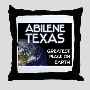 abilene texas - greatest place on earth Throw Pill