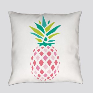 Pink Pineapple Everyday Pillow