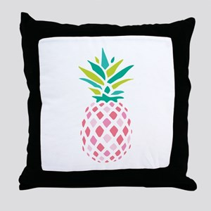 Pink Pineapple Throw Pillow