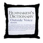 Outside Voice Throw Pillow