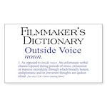 Outside Voice Rectangle Sticker 50 pk)