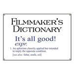 Film Dictionary: All Good! Banner