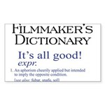 Film Dictionary: All Good! Rectangle Sticker 10 p