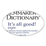 Film Dictionary: All Good! Oval Sticker (10 pk)