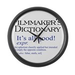 Film Dictionary: All Good! Large Wall Clock