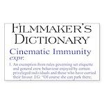 Cinematic Immunity Rectangle Sticker 10 pk)