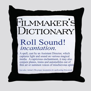 Film Dctnry: Roll Sound! Throw Pillow