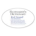 Film Dctnry: Roll Sound! Oval Sticker (50 pk)