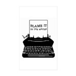 Blame the Typewriter Rectangle Sticker 50 pk)