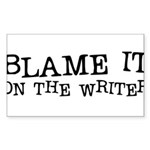 Blame it on the Writer Rectangle Sticker 10 pk)