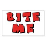 Bite Me! design Rectangle Sticker 50 pk)