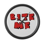 Bite Me! design Large Wall Clock