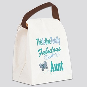 Totally Fabulous Aunt Canvas Lunch Bag
