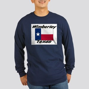 Wimberley Texas Long Sleeve Dark T-Shirt