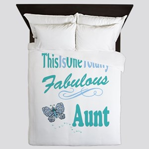 Totally Fabulous Aunt Queen Duvet