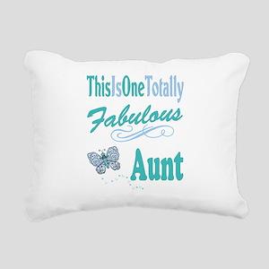 Totally Fabulous Aunt Rectangular Canvas Pillow