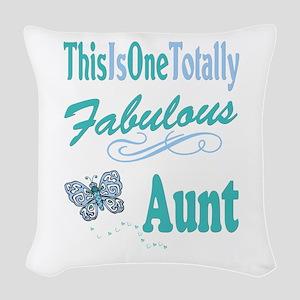 Totally Fabulous Aunt Woven Throw Pillow