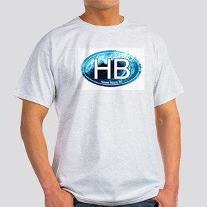HB Holden Beach Wave Oval Light T-Shirt