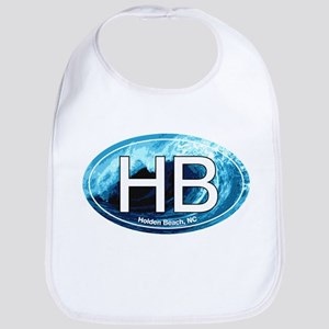 HB Holden Beach Wave Oval Bib