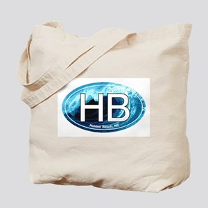 HB Holden Beach Wave Oval Tote Bag