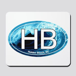 HB Holden Beach Wave Oval Mousepad