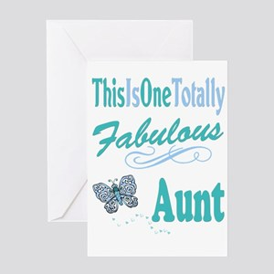 Totally Fabulous Aunt Greeting Card