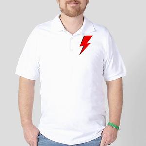 Lightning Bolt red logo Golf Shirt