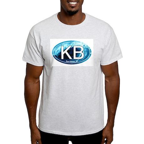 KB Kure Beach, NC Wave Oval Light T-Shirt